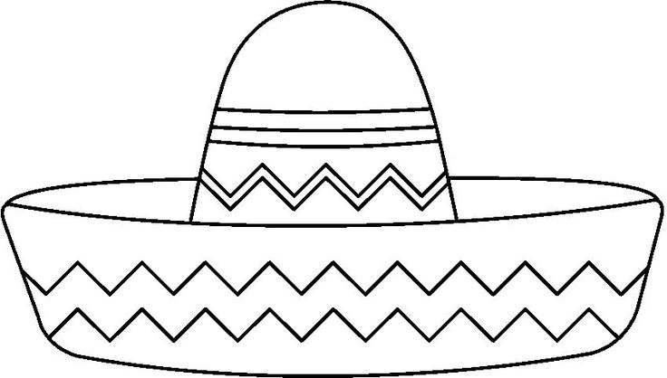 sombrero coloring party world crafts hispanic heritage pictures of an actual heart coloring pages Sombrero Coloring Page