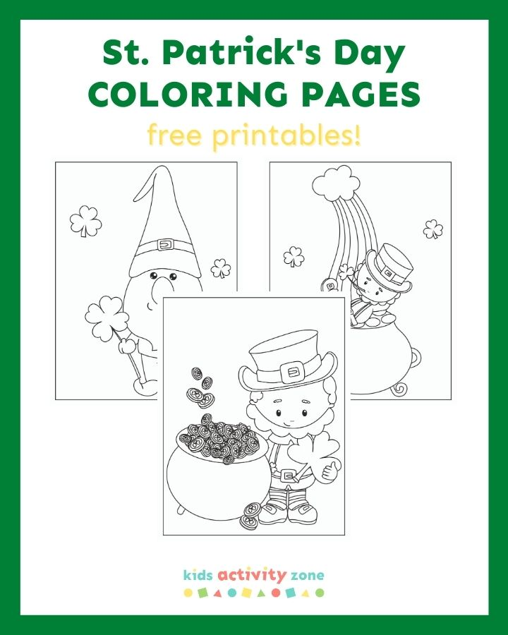 st coloring kids activity zone patricks featured image color in happy thanksgiving coloring pages St. Patrick's Day Coloring Page