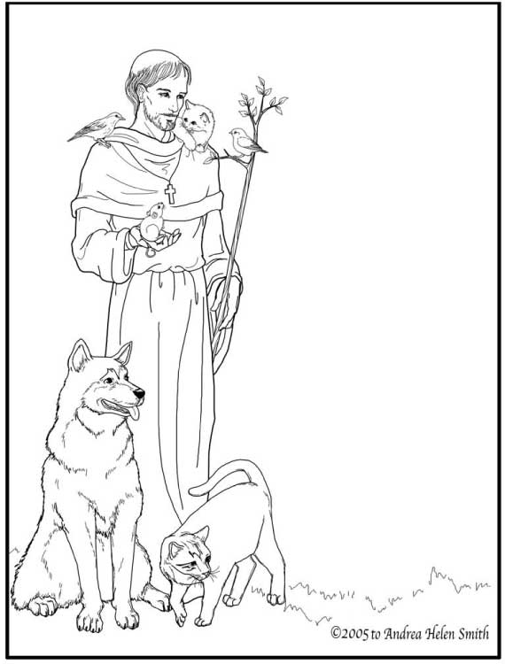 st francis of assisi coloring for catholic kids colorfrancis2 comets drawing cat mask to coloring pages St.francis Of Assisi Coloring Page