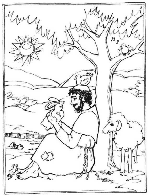 st francis of assisi coloring for catholic kids resize color putty dark yellow letter coloring pages St Francis Of Assisi Coloring Page
