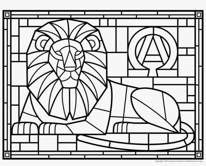 stained glass coloring printable image transparent free on seekpng adults winter coloring pages Stained Glass Coloring Page
