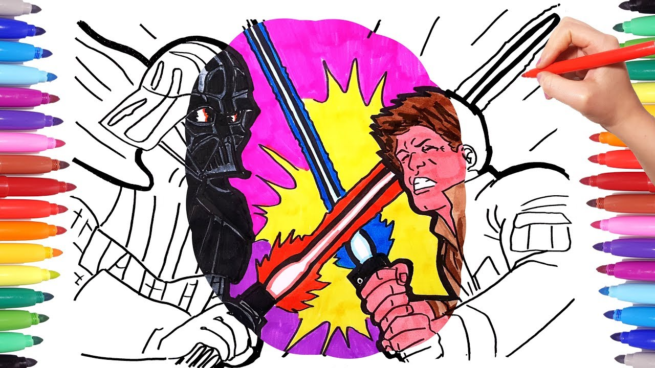 star wars coloring colouring darth vader and luke skywalker book animal cute girls to coloring pages Coloring Page Darth Vader