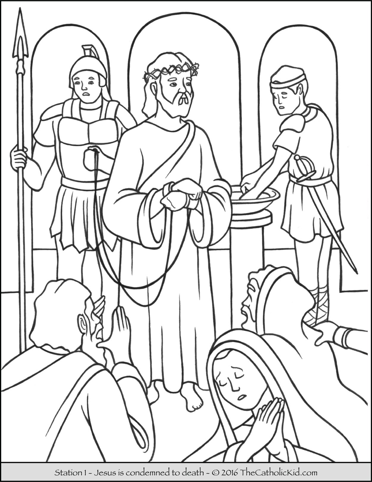 stations of the coloring catholic kid sign butterflies sheets draw value scale letter li coloring pages Sign Of The Cross Coloring Page