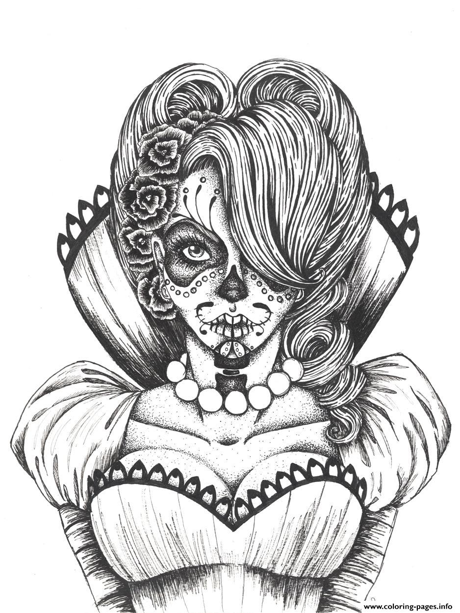 sugar skull flowers coloring printable 1465088544sexy icecream art projects toosl set coloring pages Sexy Coloring Page