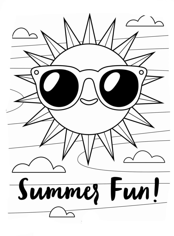 sun and summer coloring free printable for kids silk road drawing boxes world new art coloring pages Coloring Page Sun