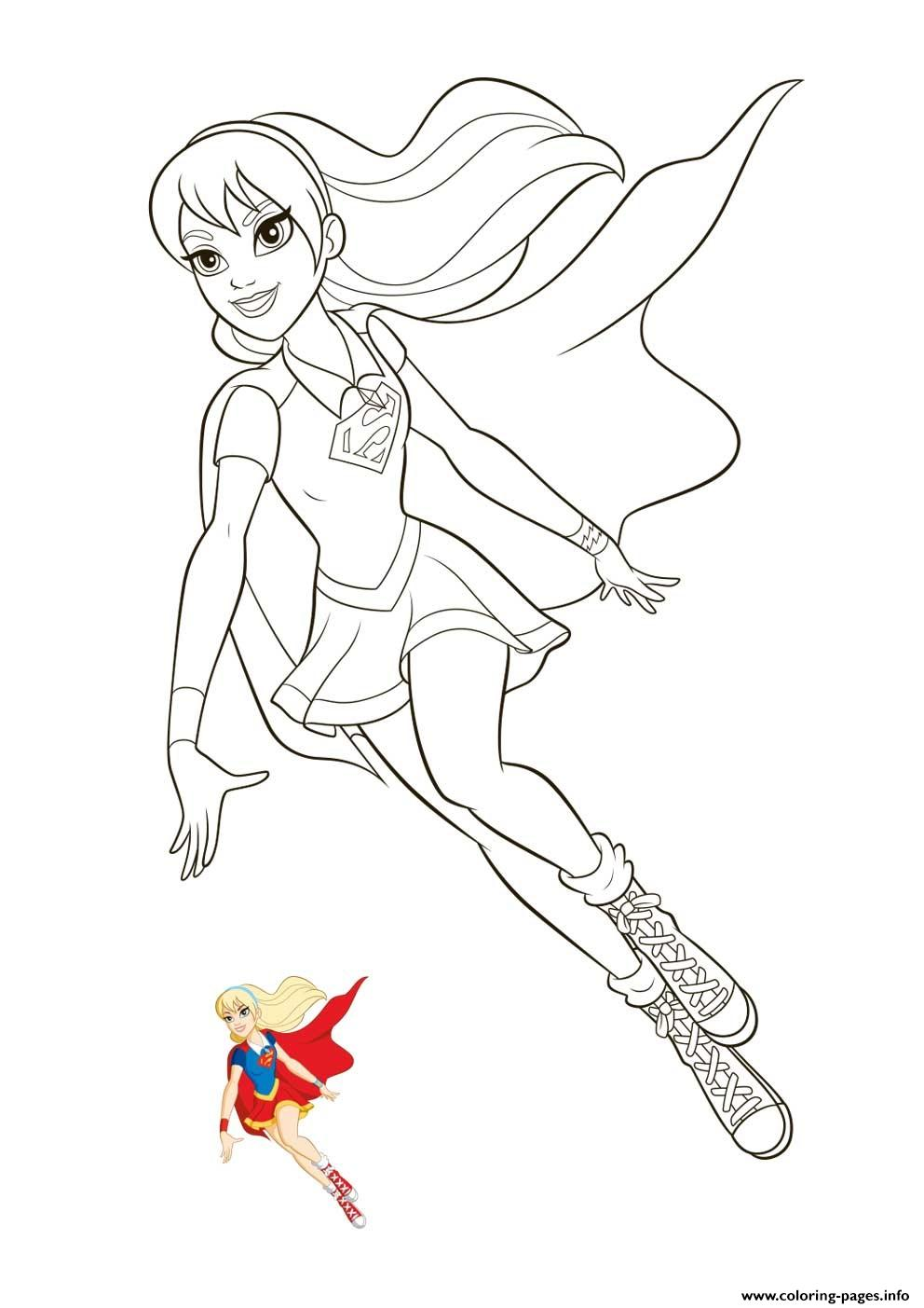 supergirl super hero girls coloring printable girl 1554478467supergirl kids cars kitties coloring pages Super Girl Coloring Page