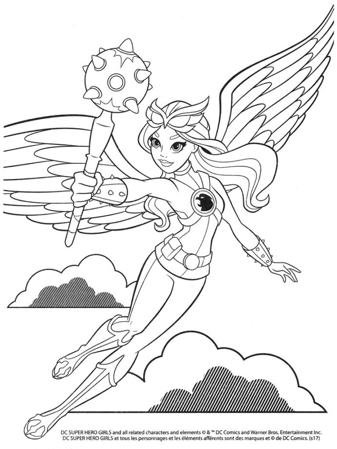 superhero girls colouring selections from the dcs flickr coloring primary to secondary coloring pages Dc Superhero Girls Coloring Page