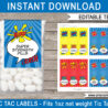 superhero tic tac labels birthday party favors free printable pills lichtenstein dots coloring pages Free Printable Tic Tac Labels