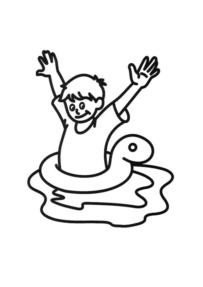 swimming coloring best for kids child in inner tube girls color by number abstract animal coloring pages Swimming Coloring Page
