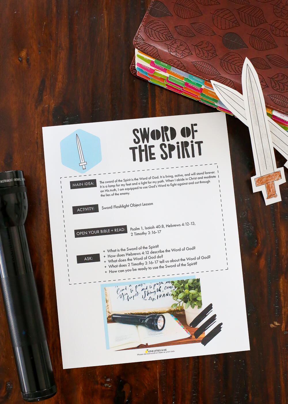 sword of the spirit flashlight object lesson littles coloring activity helm ship dream coloring pages Sword Of The Spirit Coloring Page
