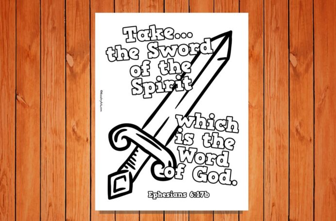 sword of the spirit printable ministryark coloring low res 1024x675 thanks giving images coloring pages Sword Of The Spirit Coloring Page