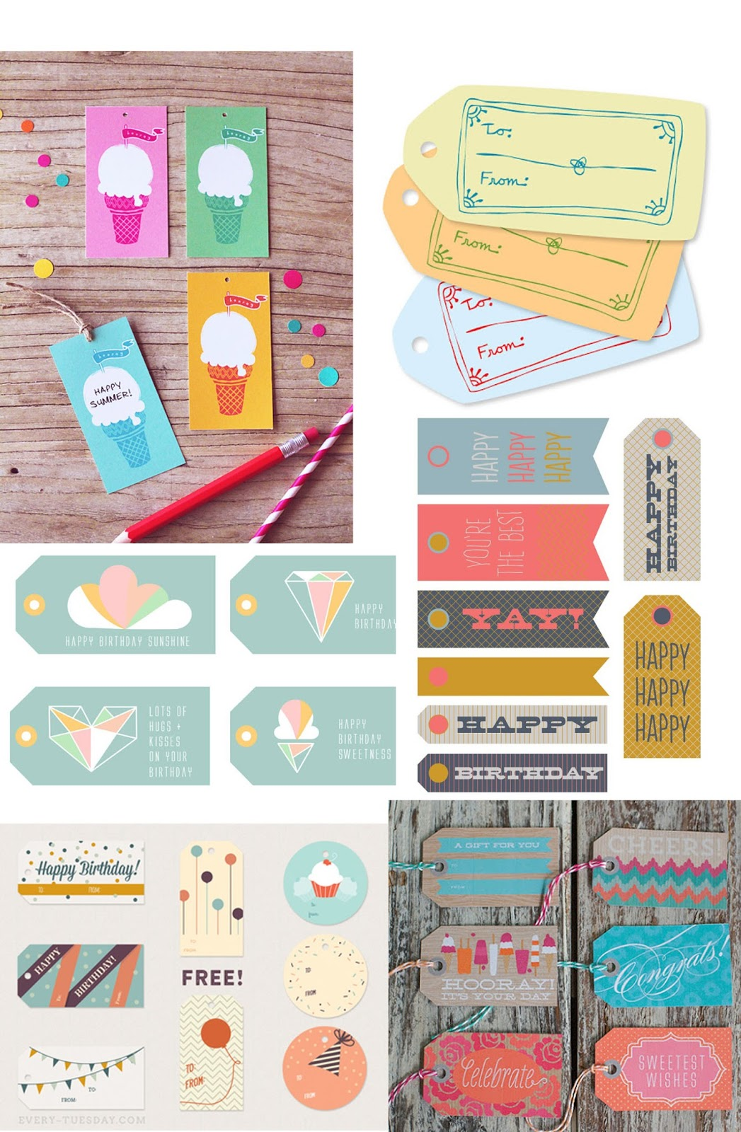 tell free printable birthday tags and party favor gift capital cursive canary color wrap coloring pages Party Favor Tags Free Printable