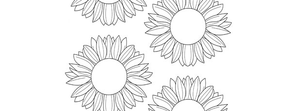 template small stencils free printable princess cut out coloring items for adults fabric coloring pages Sunflower Stencils Free Printable
