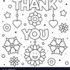 thank you coloring black and royalty free vector printable marker fabric crayola stripe coloring pages Free Printable Thank You Coloring Pages