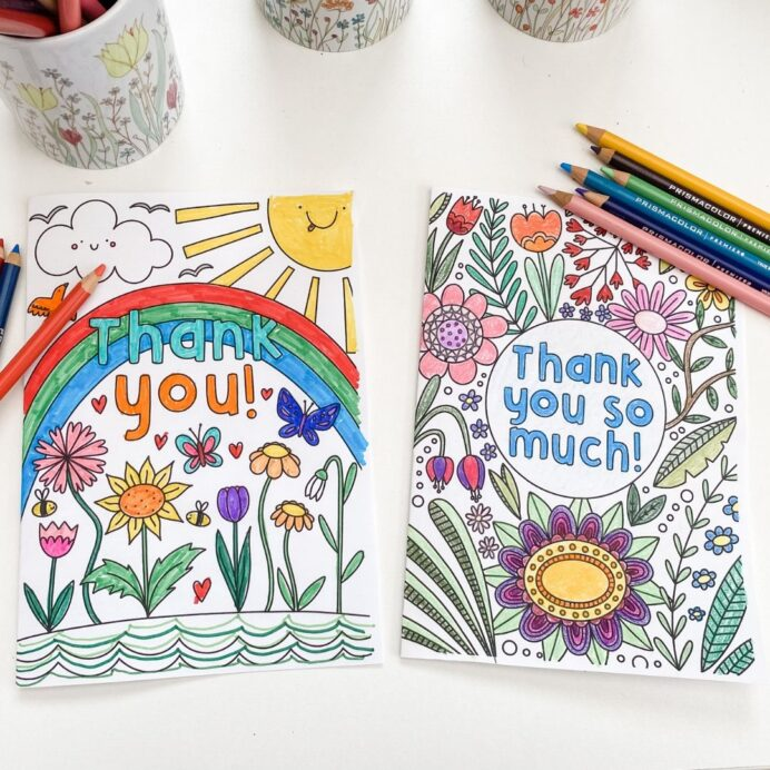 thank you colouring mum in the madhouse coloring children can say to workers by these coloring pages Thank You Coloring Page