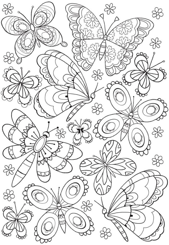 the best colouring for kids days at home paul paula full coloring butterflies football coloring pages Full Page Coloring Pages