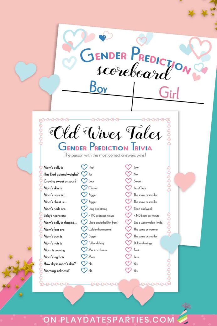 the best gender reveal party games to keep them guessing free printable baby old wives coloring pages Free Printable Baby Gender Reveal Games