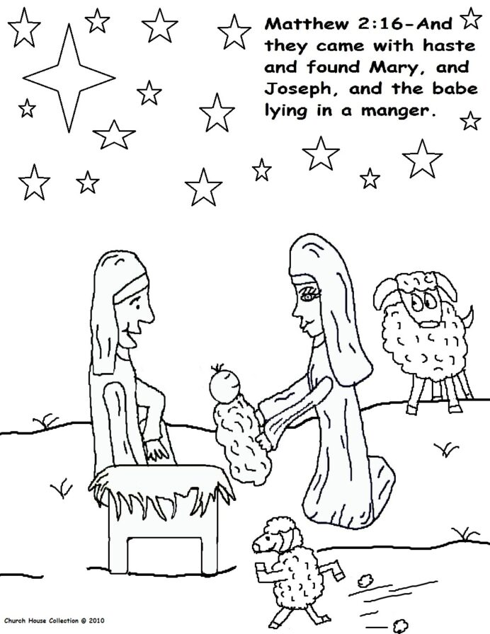 the birth of jesus coloring with sheep man supplies for card making light board tracing coloring pages Birth Of Jesus Coloring Page