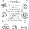 the girl scout promise coloring available in eight colors flash sheets violet vs magenta coloring pages Girl Scout Promise Coloring Page