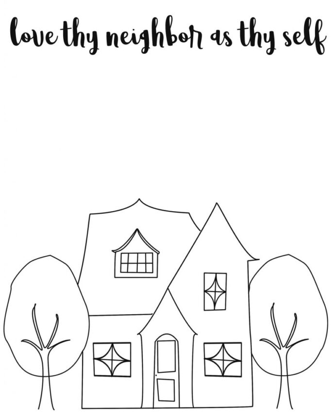 the good samaritan come follow april ministering simply thy neighbor coloring as self coloring pages Love Thy Neighbor Coloring Page
