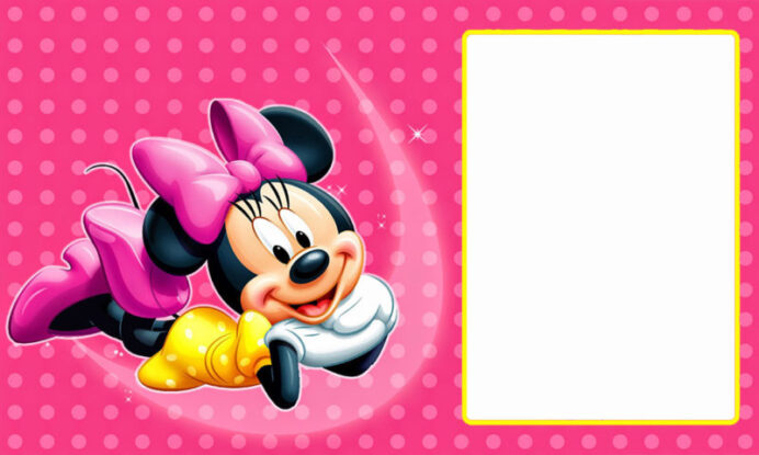the largest collection of free minnie mouse invitation templates part printable birthday coloring pages Free Printable Minnie Mouse Birthday Invitations