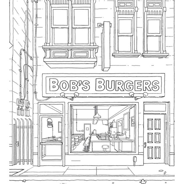 the official bob burgers coloring book themysteryshack 630x refresh dry erase markers coloring pages Bob's Burgers Coloring Page