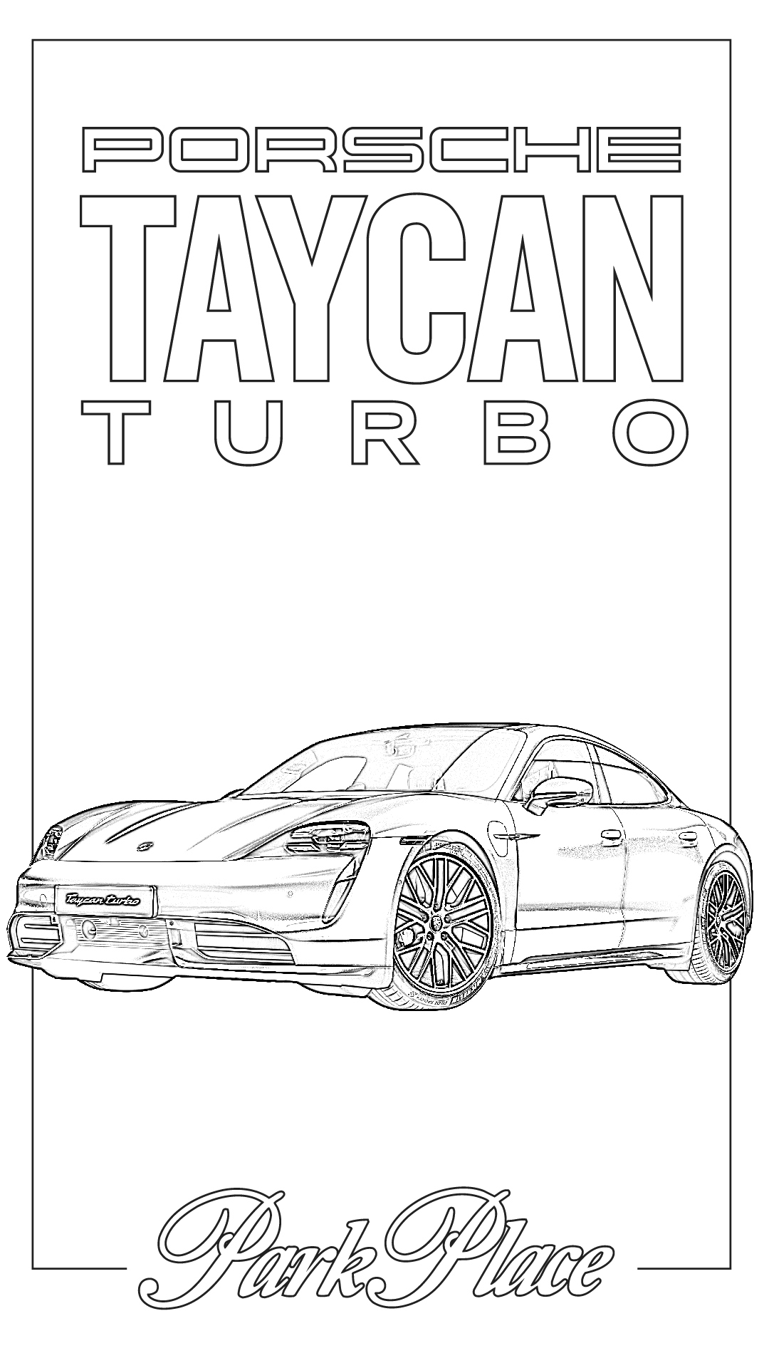 the porsche taycan all electric coloring pp 1080x1920 twistable color pencil soccer coloring pages Porsche Coloring Page