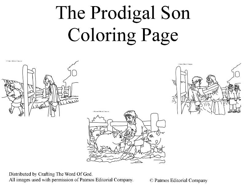 the prodigal son coloring crafting word of 4th grade fall art lesson glitter glue adult coloring pages The Prodigal Son Coloring Page