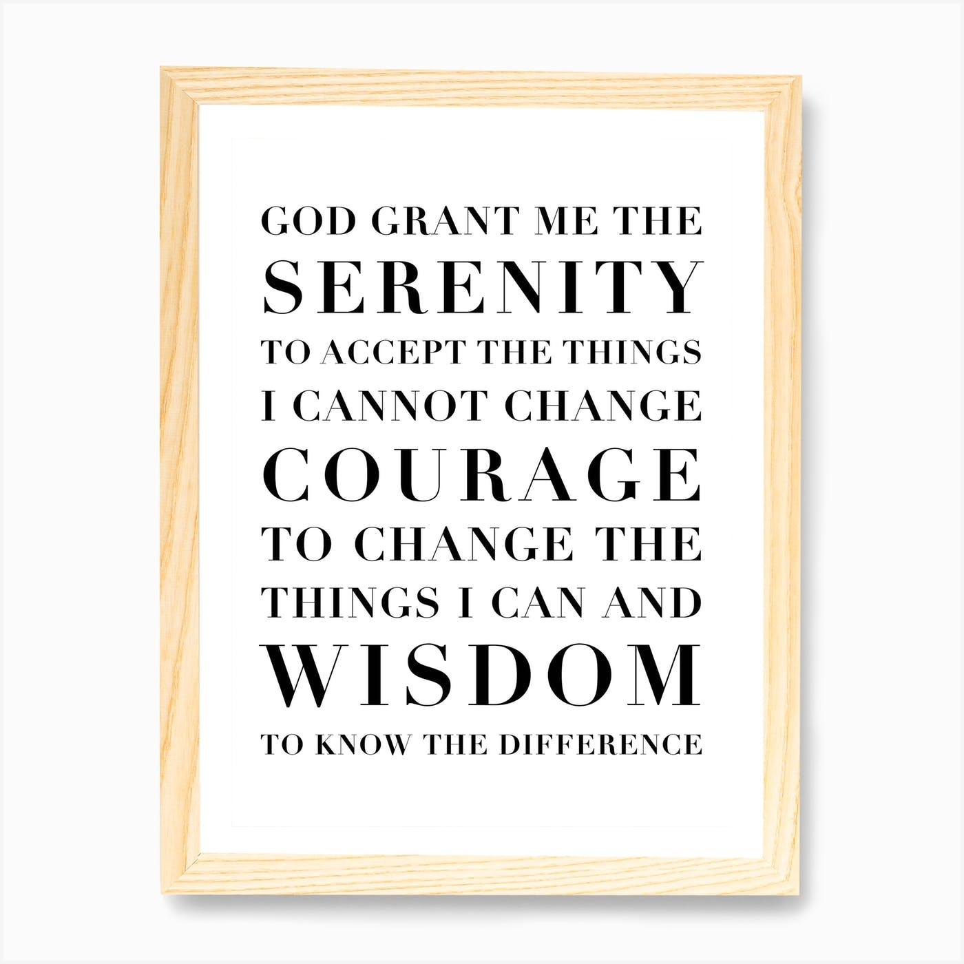 the serenity prayer capitalized art print by typologie paper co fy free printable gen std coloring pages Free Printable Serenity Prayer