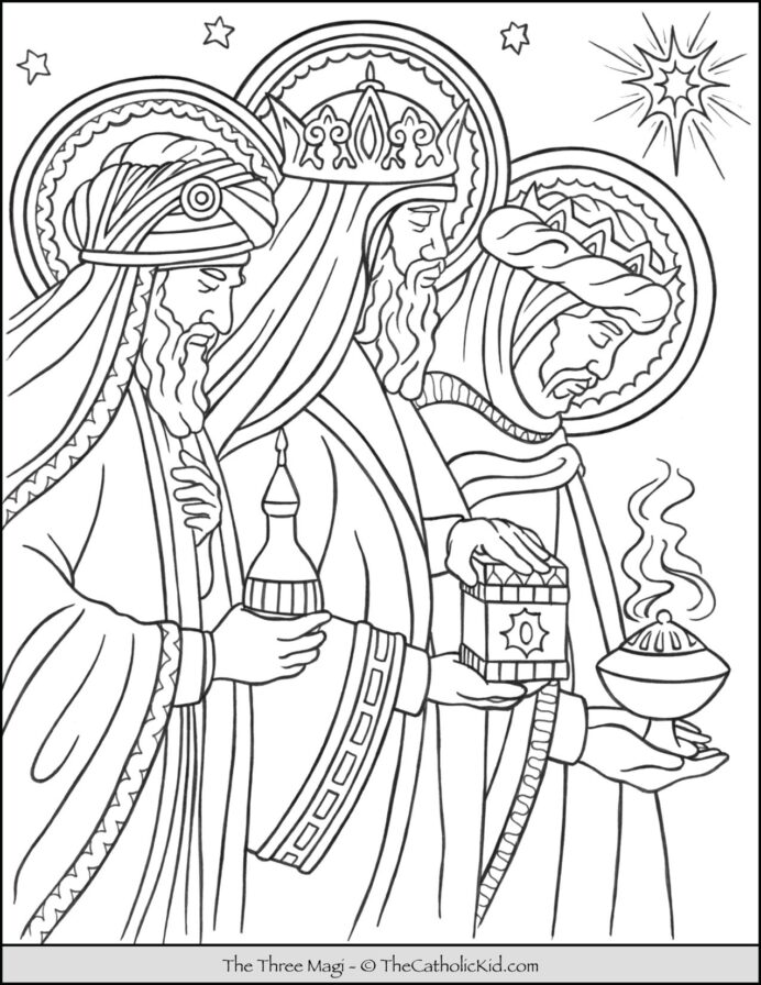 three magi men coloring thecatholickid cnt mls find and color thanksgiving kids black coloring pages Wise Men Coloring Page