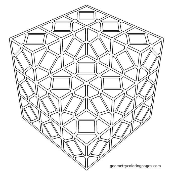 tiled geometry coloring pattern geometric thanksgiving and color bulk scinece kits coloring pages Geometric Coloring Page