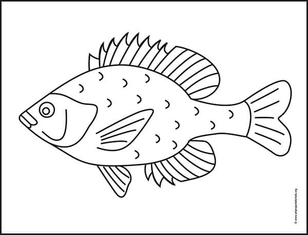 to draw fish art projects for kids bluegill coloring animals cute burnt oranfe word worm coloring pages Bluegill Coloring Page