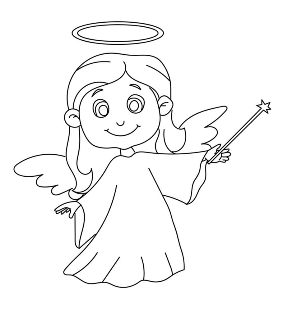 top free printable cheerful angel coloring guardian for your toddler 910x1024 light up coloring pages Guardian Angel Coloring Page