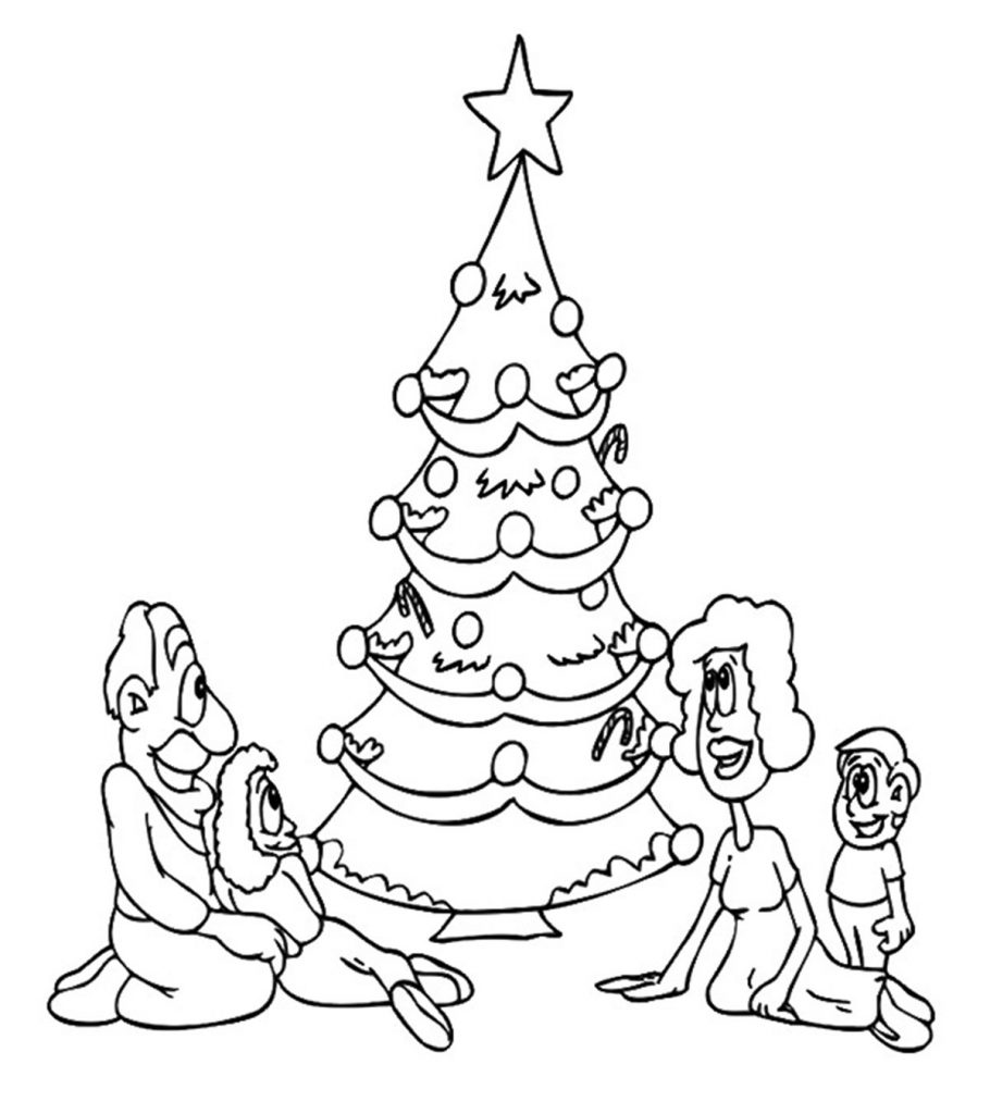 top free printable christmas tree coloring for your little ones1 910x1024 shades of coloring pages Christmas Tree Coloring Page Free