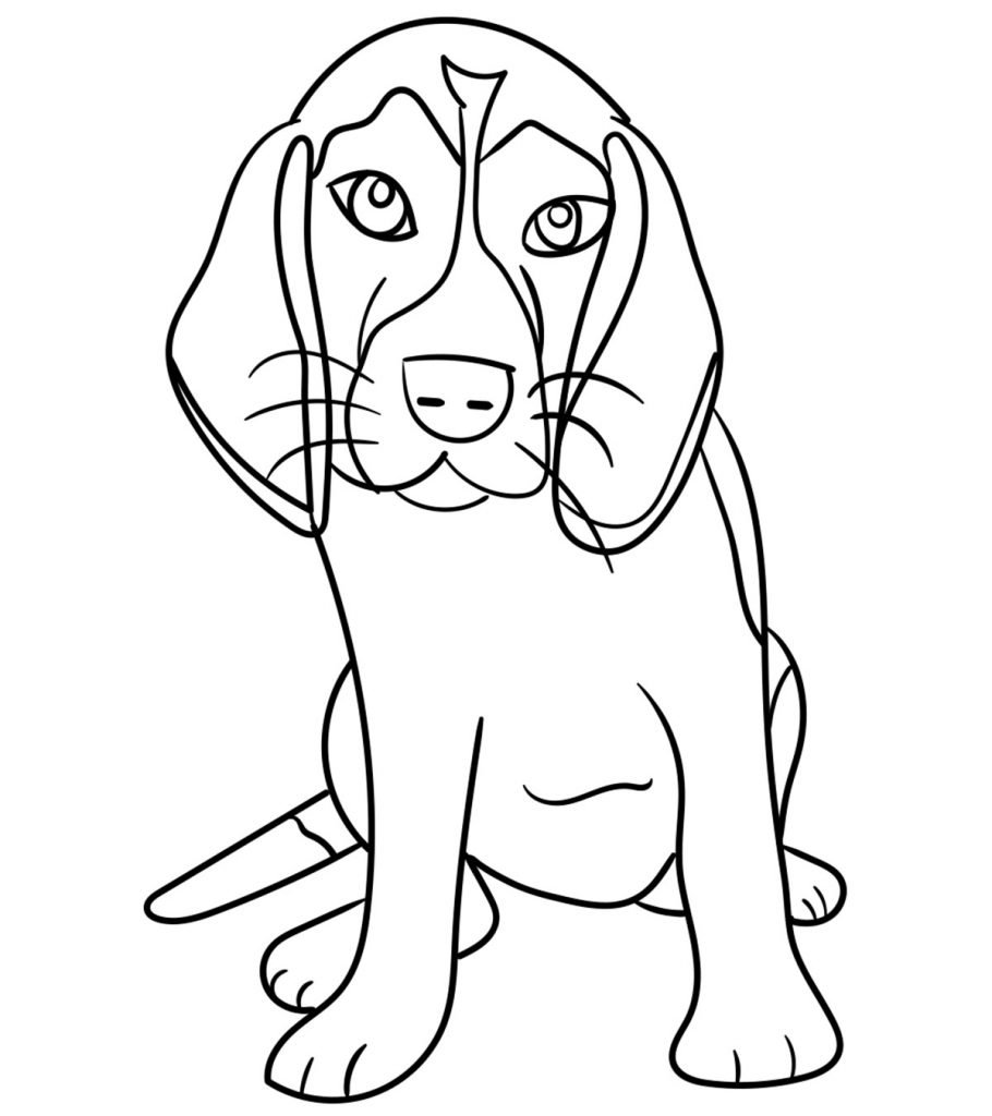 top free printable dog coloring cute funny your toddler to color 910x1024 bubble paper coloring pages Cute Dog Coloring Page