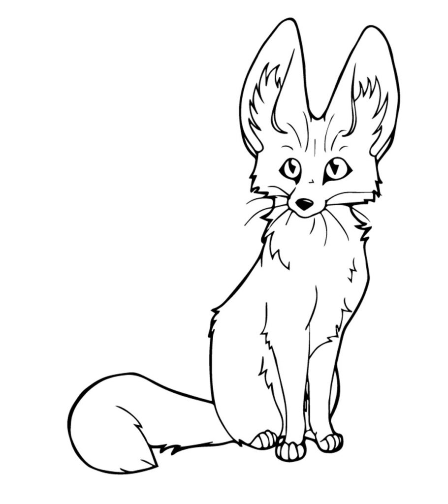 top free printable fox coloring interesting your toddler 910x1024 color changing markers coloring pages Coloring Page Fox