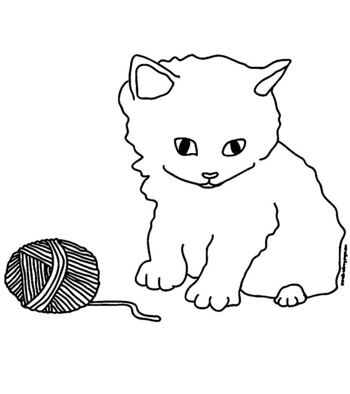 top free printable kitten coloring cute playing with the barn 910x1024 quick drying paint coloring pages Cute Kitten Coloring Page