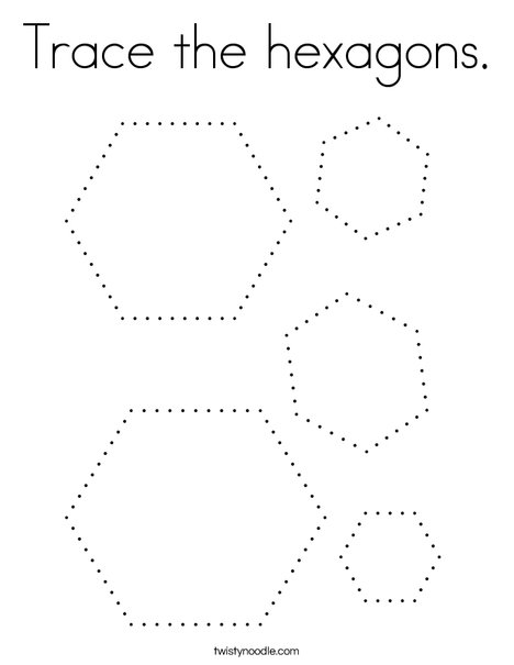 trace the hexagons coloring twisty noodle hexagon 468x609 q85 santa easy to color frozen coloring pages Hexagon Coloring Page