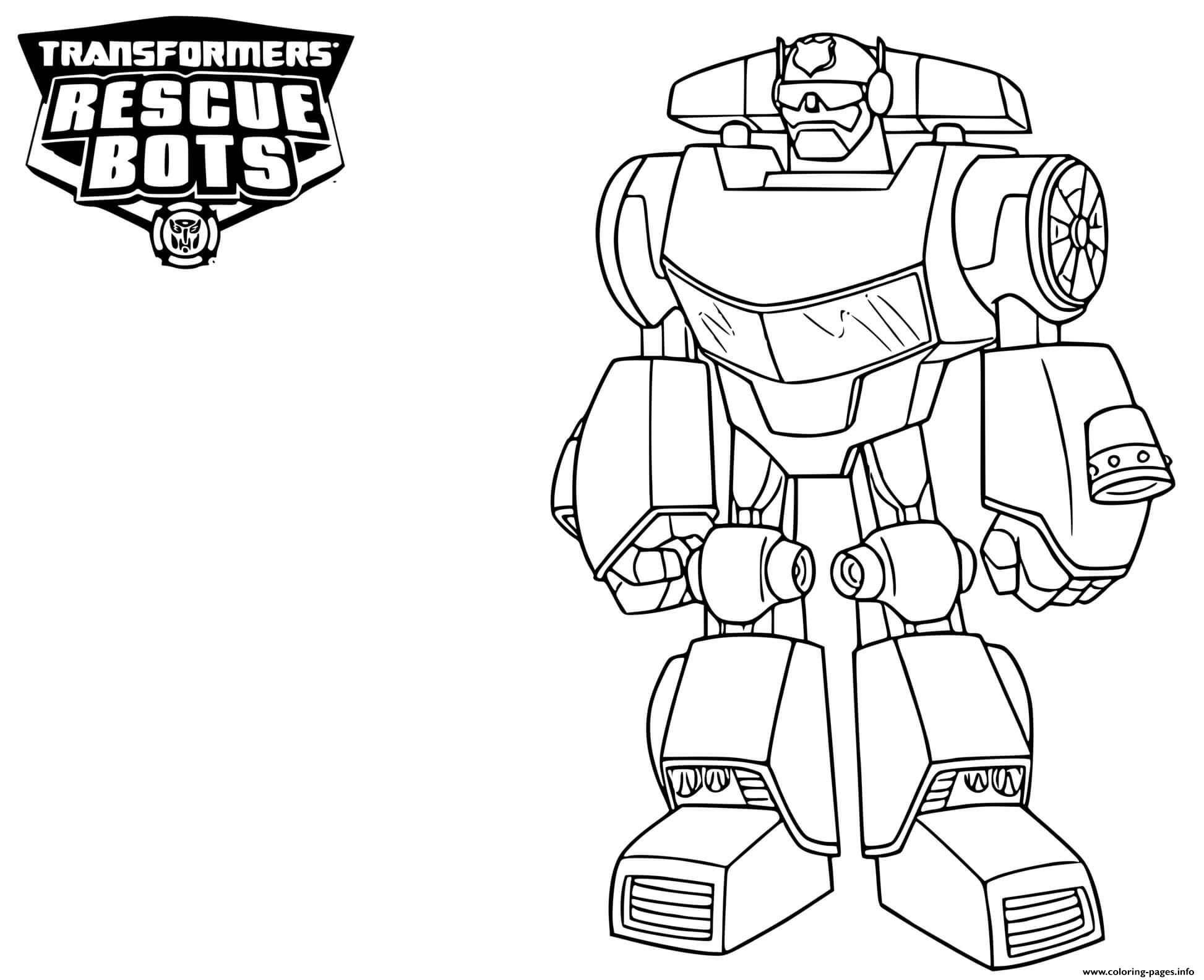 transformers rescue bots coloring printable bot 1604425878transformers capital in cursive coloring pages Rescue Bot Coloring Page
