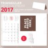 triangular desk calendar for year august week starts royalty free vectors and stock coloring pages Free Printable 2017 Desk Calendar