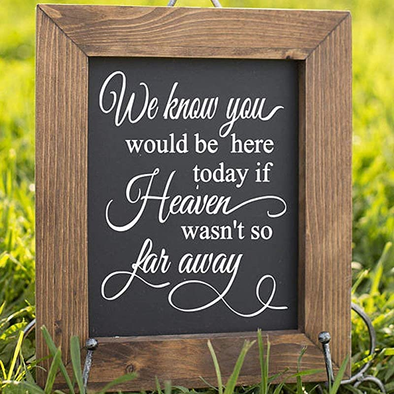 tribute you would here today if heaven wasn so far away sign memorial printable 8x10 coloring pages We Know You Would Be Here Today Free Printable