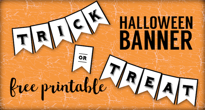 trick or treat free printable halloween crafts paper trail design happy short color by coloring pages Happy Halloween Banner Free Printable