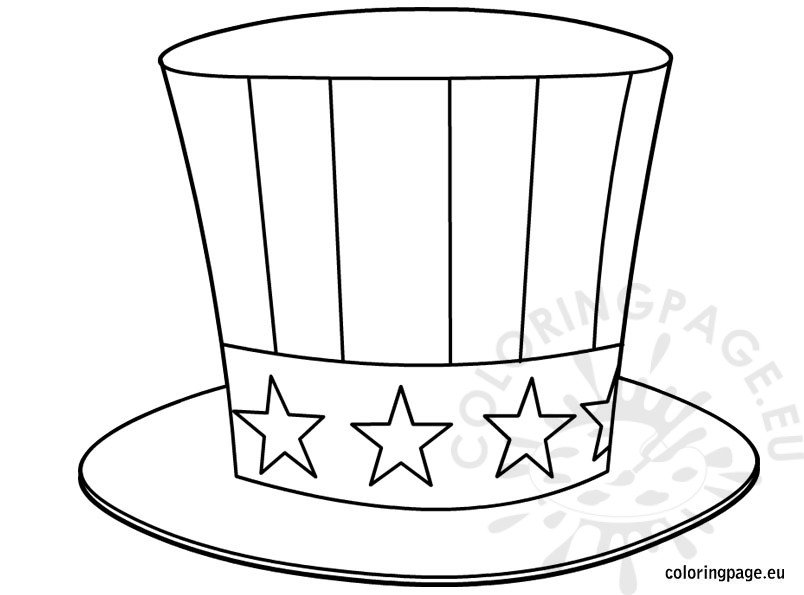 uncle sam hat coloring art supplies black friday color value scale valentine teddy bears coloring pages Uncle Sam Coloring Page