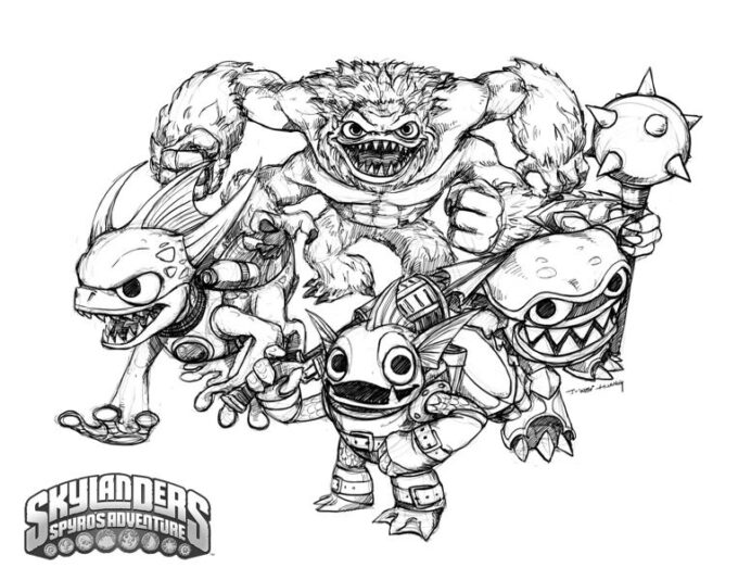 unique comics animation good skylanders coloring 777px water horses to print and color coloring pages Coloring Page Skylanders