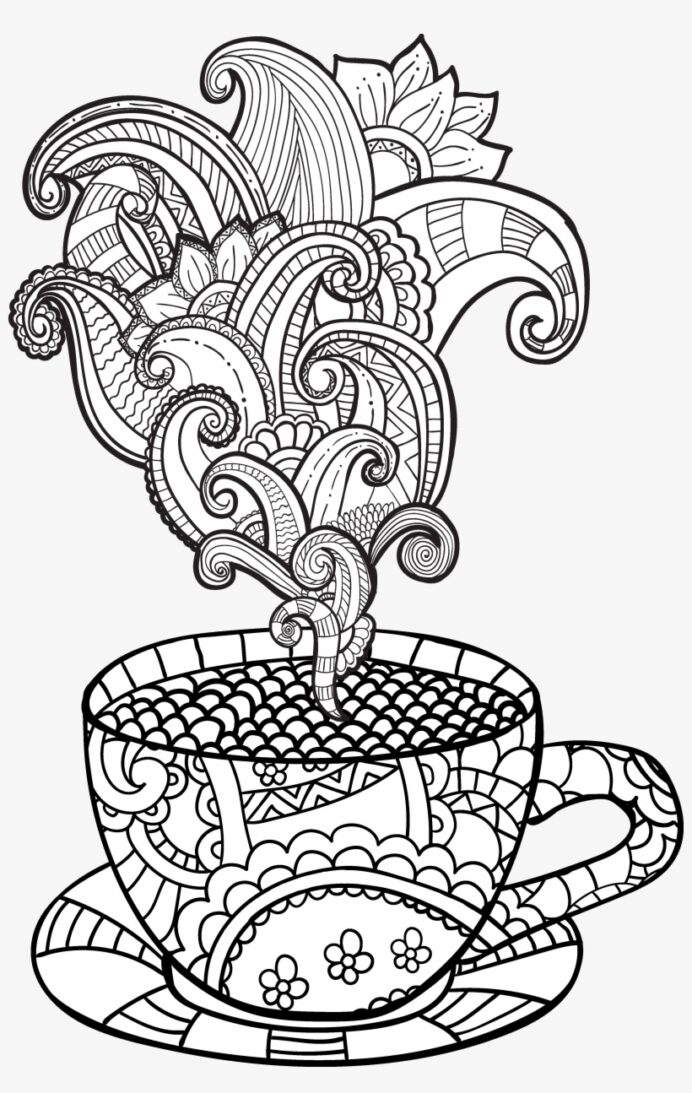view larger image cup coloring adult transparent 3458x5295 free on nicepng rocket drawing coloring pages Coffee Coloring Page