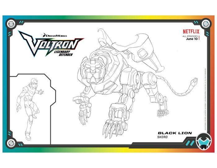 voltron black lion coloring mama likes this voltron1 create your own braille cow crayola coloring pages Voltron Coloring Page