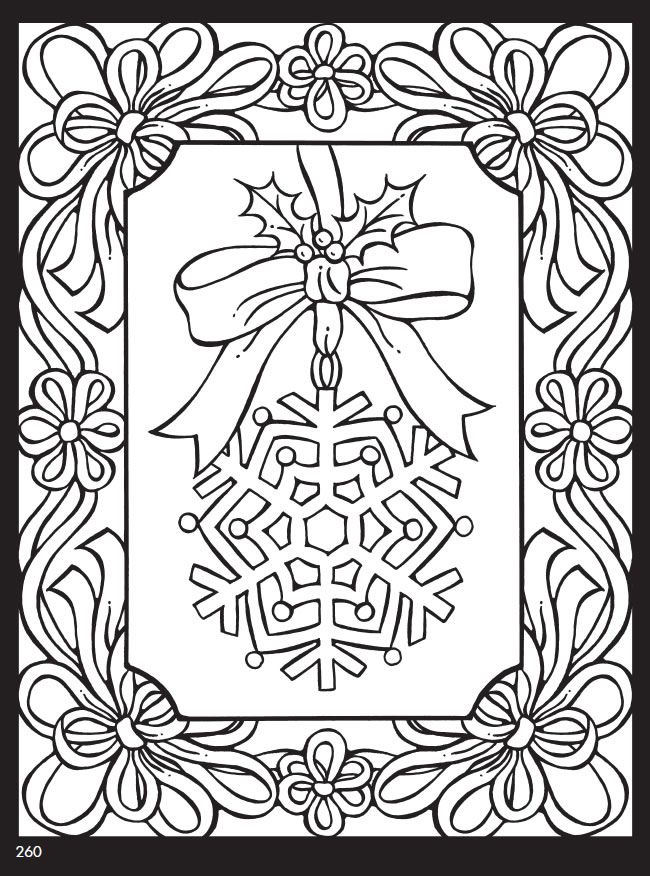 welcome to dover publications snowflake coloring christmas books for adults kids boys coloring pages Christmas Coloring Page For Adults