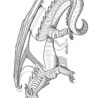 wings of fire dragon coloring for kids free printable rainbow printables seawing coloring pages Wings Of Fire Coloring Page