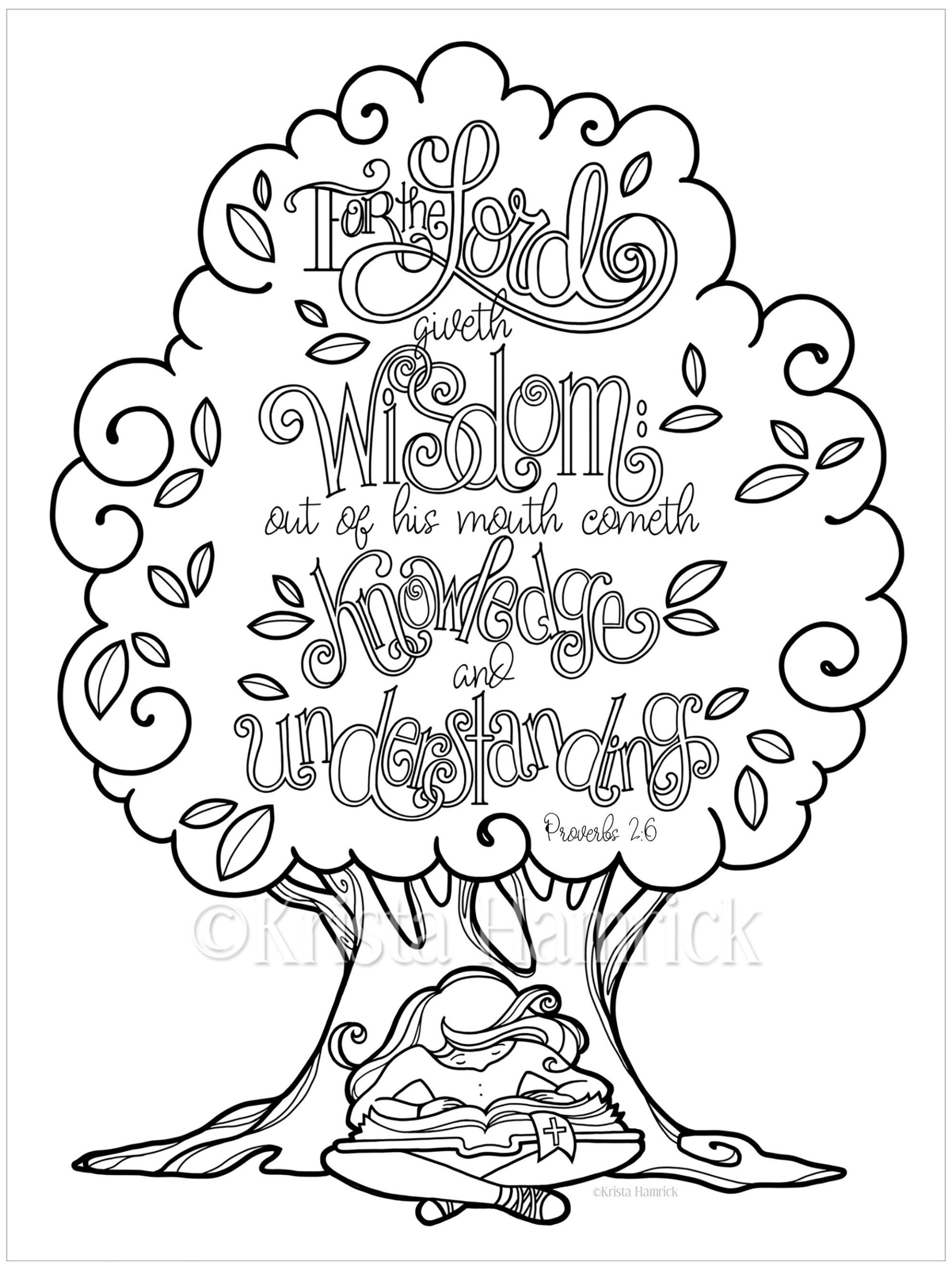 wisdom proverbs coloring in two sizes 5x11 bible etsy ivory ella il fullxfull 6ieu coloring pages Ivory Ella Coloring Page