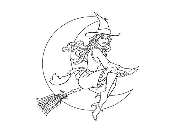 witch on halloween coloring print for free color nimbus narwhalcoloring pictures wonder coloring pages Sexy Coloring Page